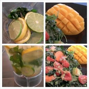 Kale Salad & Mango